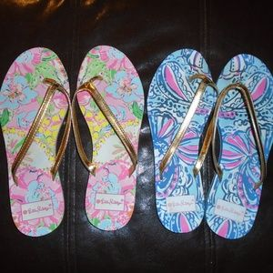 LOT of 2 ~ LILLY PULITZER FLIP FLOPS ~ 9 ~